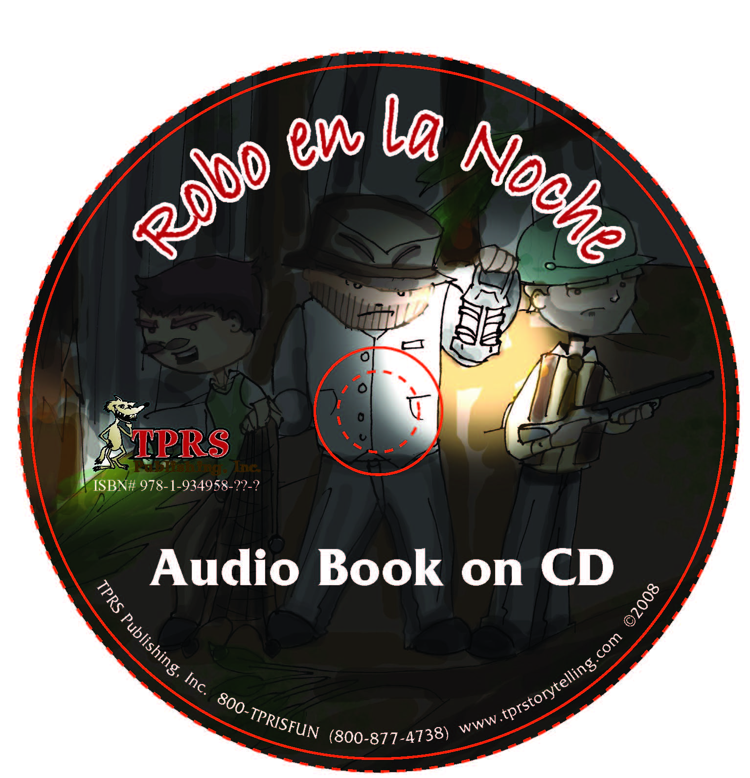 Robo en la noche – Audio Book on CD – Present Tense