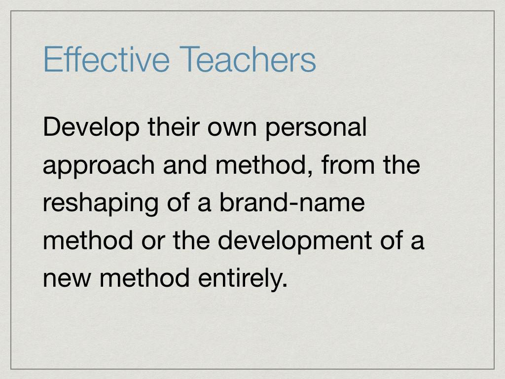 Approach-effective-teacher